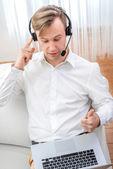 Business video call — 图库照片
