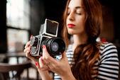 Photographe travaillant — Photo