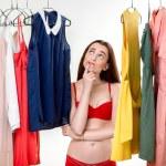 Woman in wardrobe — Stock Photo #61908963