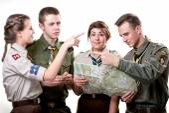 Scouts in studio — Foto Stock