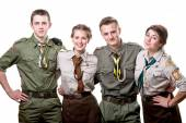 Scouts in studio — Stock Photo