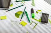 Office table with working stuff — Stock Photo