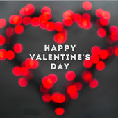 Valentines day greeting card concept — Stock Photo