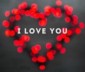 Sevgililer günü tebrik kartı kavramı — Stok fotoğraf