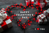 Valentines day greeting card concept — Stok fotoğraf