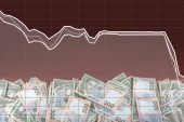 Ukrainian money devaluation — Stock Photo