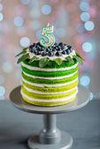 幸せな誕生日ケーキ — ストック写真
