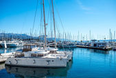 Yachts in the harbour — ストック写真