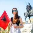 Young Albanian patriot — Stock Photo #71272981