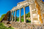 Temple ruins in Ancient Apollonia — Stok fotoğraf