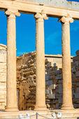 Erechtheum temple in Acropolis — Stock Photo