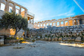 Erechtheum and Parthenon temple in Acropolis — Stock Photo