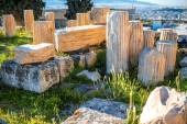 Architectural fragments of Acropolis ruins — Foto de Stock