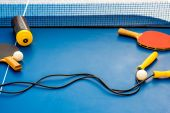 Table tennis equipment — Stock Photo