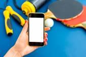 Sport phone application — Stock Photo