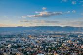 Top view on Skopje city in Macedonia — Stock Photo