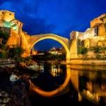 Mostar city night view — Stock Photo #76720873