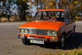 Lada 2106 near the road — Stock Photo