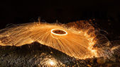 Light fire Spin — Stock Photo