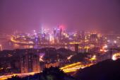 Yuzhong Peninsula night view — Foto de Stock
