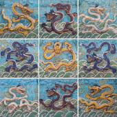 Nine Dragon Wall — Stock Photo