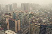 City's Air Pollution in Changsha — Stock Photo