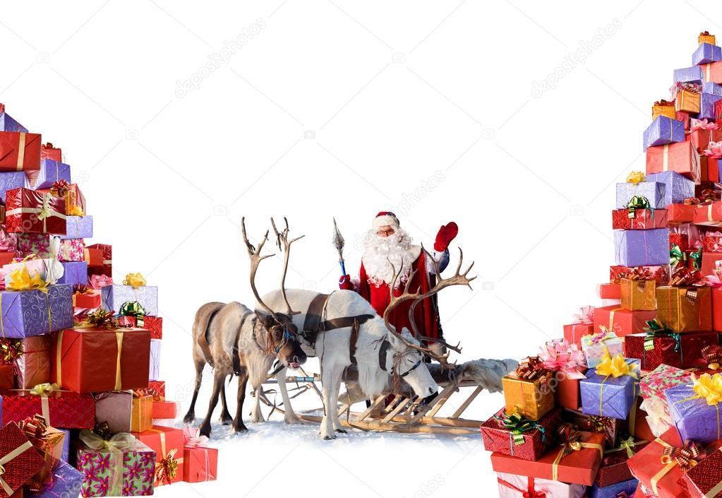 p re no l avec ses rennes et ses dons photographie vartpilot 52761777. Black Bedroom Furniture Sets. Home Design Ideas