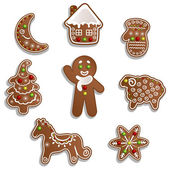 Christmas gingerbread — Stock Vector