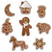 Christmas gingerbread — Cтоковый вектор