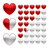 Beoordeling van harten — Stockvector