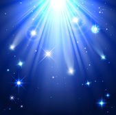 Stars with rays of light — Stock Vector