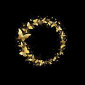 Wreath of butterflies — 图库矢量图片