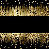 輝くスパンコールの黄金背景 — ストックベクタ