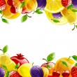 Banner of fresh fruit — Stock Vector #70924679