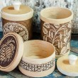 Products from birch bark — Stock Photo #65103089