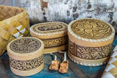Products from birch bark — Stock Photo