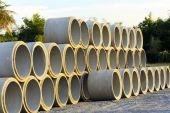 Concrete pipes — Stock Photo