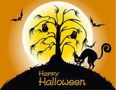 Happy halloween party affisch — Stockvektor