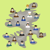 Vector teamwork and ideas concept illustration. — Stock Vector
