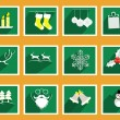 Set of elements for Christmas and New Year greeting cards — Stock Vector #56509199