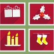 Set of elements for Christmas and New Year greeting cards — Stock Vector #56509309