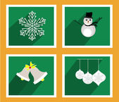 Set of elements for Christmas and New Year greeting cards — Stock Vector