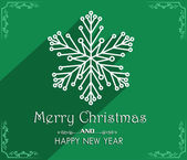 Vector Merry Christmas and Happy New Year card design — Stock Vector