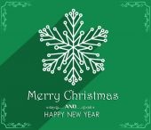 Feliz natal e feliz ano novo cartão design do vetor — Vetorial Stock