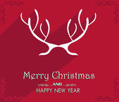 Vector Merry Christmas and Happy New Year card design. — Vector de stock