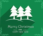 Vector Merry Christmas and Happy New Year card design — Vector de stock