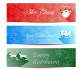 Veselé vánoční nápisy scénografii, vektorové ilustrace — Stock vektor