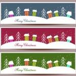Merry Christmas banners set design, vector illustration — Stock Vector #57703351