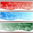Merry Christmas banners set design, vector illustration — Stock Vector #57703407