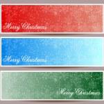 Merry Christmas banners set design, vector illustration — Stock Vector #57703521